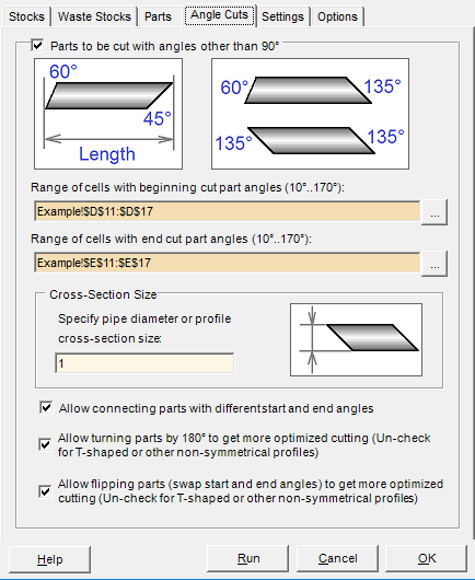 1DCutX - Linear Nesting Software for Excel